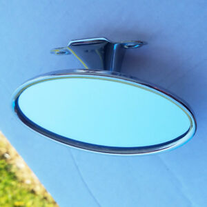 Oval Street Rod Rear View Mirror 41 48 Ford Car 48 52 Pickup Polished Stainless