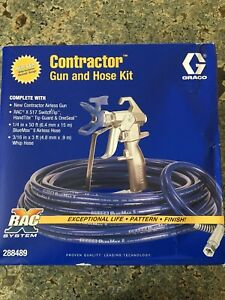 Graco 288489 Contractor Airless Paint Spray Gun Hose Kit 3600 Psi Tip 0 017in
