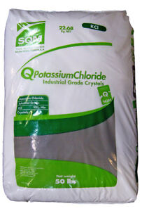 Potassium Chloride Sqm 95 kcl Industrial Grade White Crystals 50 Lb Bag