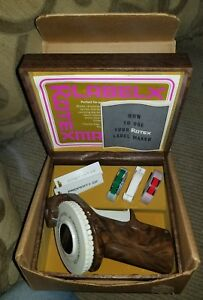 Vintage Rotex Label Maker With Tape Tags