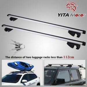 48 Universal Aluminum Car Top Roof Rack Cross Bar Pair For Cargo Luggage