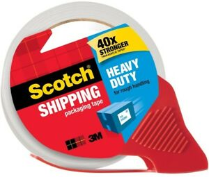 Case Of 12 3m Scotch Heavy Duty Shipping Packaging Tape With Dispenser