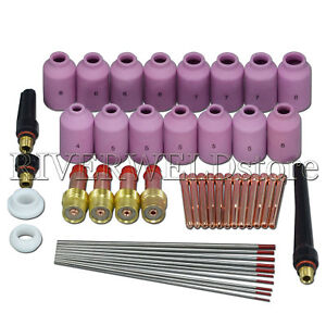 Gas Lens 2 Thoriated Tungsten Electrode Kit Fit Sr Wp17 18 26 Tig Welding Torch