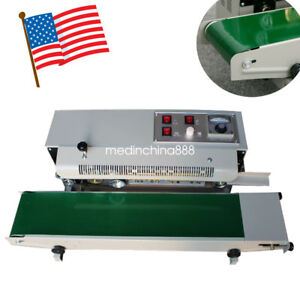 Ce Automatic Horizontal Continuous Plastic Bag Band Sealing Sealer Machine