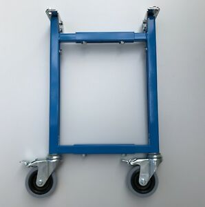 Adjustable Support Stand For Roller Gravity Conveyor With Caster Wheels