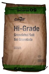 Sodium Chloride Hi Grade Granulated Salt nacl White Crystalline Solid 50 Lb