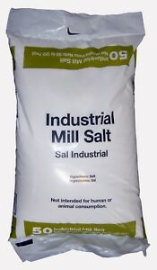 Sodium Chloride Industrial Mill Salt nacl White Crystalline Solid 50 Lb Bag