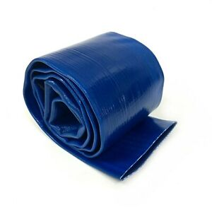 4 X 20 Ft Feet Agricultural Pvc Lay Flat Discharge Water Pump Hose