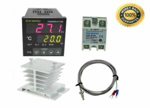 Outlet Digital Thermostat Temperature Controller White Heat Sink Industrial New