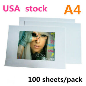 A4 Dark Color Blank T shirt Transfer Paper For T shirt Heat Transfer 100pcs Us