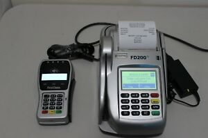 First Data Fd200ti Fd 200ti Credit Card Terminal With Fd 35 Pin Pad Power Supply