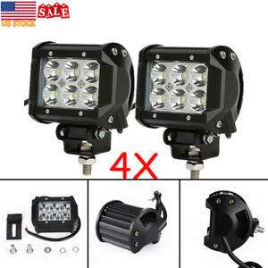 4inch 18w Cree Flood Led Work Light Fog Reverse Pods Offroad Truck Tractor Ute
