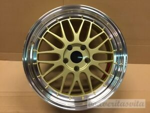 18 Lm Lemans Style Wheels Rims Gold Mesh Fits Honda Civic Ex Lx Si Hybrid Lxs