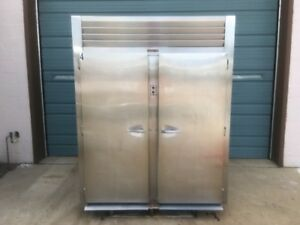 Traulsen Stainless Steel Two Section Roll In Rack Refrigerator Cooler