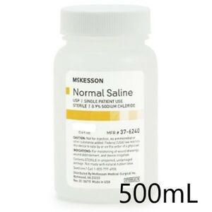 Normal Saline Usp Solution Sodium Chloride 0 9 solution Bottle 500ml