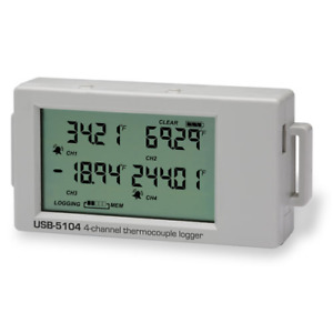 Usb 5104 High accuracy Battery powered 4 channel Thermocouple Data Logger
