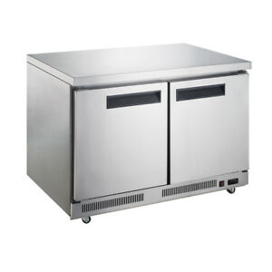 Dukers Duc60r 15 5 Cu Ft 2 door Undercounter Commercial Refrigerator