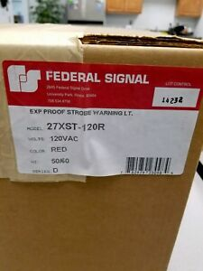 New 27xst 120r 27xst120r Federal Signal Xp Strobe Warning Light 50 60 Hz