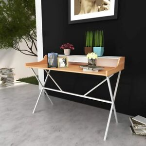 X legs Writting Desk With Shelf Computer Laptop Table Home Office Workstation
