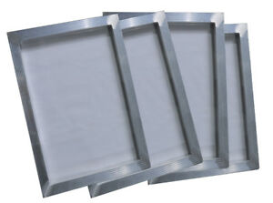 4 Pcs Screen Printing Aluminum Frame 7 5 X 10 With 180 Mesh Stretched Screen