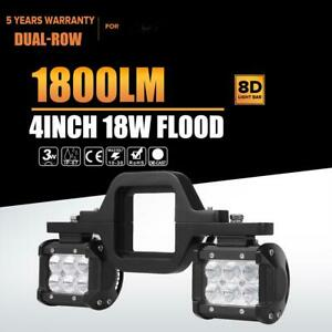 2pcs 4 18w Led Backup Reverse Spot Light tow Hitch Mount Bracket 4wd Suv Truck