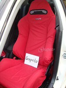Honda Integra Type R Dc5 Recaro Seats Cover 1 Single Piece red