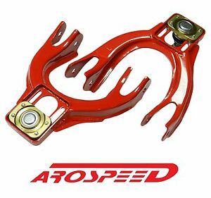 Arospeed Front Adjustable Upper Control Camber Kit Arms 94 01 Acura Integra Red