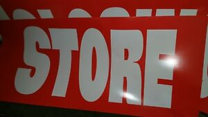 Jumbo store Closing Sale Window Sign 177 27 Over 14 Feet Out Of Business Adv