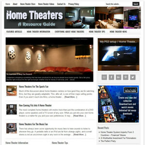 Home Theater Guide Niche Website Business For Sale W Automatic Content