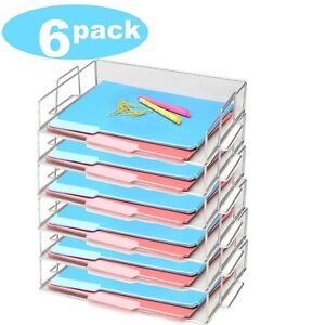 Mesh Stackable Paper Tray In Silver Sold Per 1 Tray 2303 6 Sold Per 6 Pieces