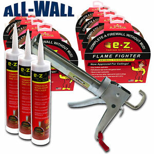 Drywall Fire Taping Kit 8 Rolls Self adhesive Tape 3 Tubes Fire Caulking Gun