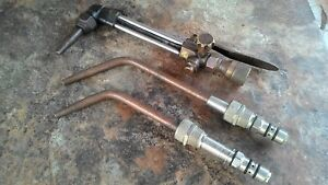 3 Vintage Gas Cutting Blow Torches 1 Harris And 2 Smiths