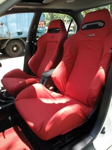 Honda Integra Type R Dc2 Recaro Seats Cover 1 Single Piece red