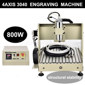 4 Axis 3040 Cnc Router Engraver Engraving Machine W mach3 Remote Controller 3d