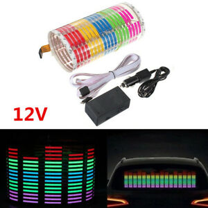 Car Rear Windshield Sticker Music Rhythm Ledflash Lamp Sound Activated Equalizer