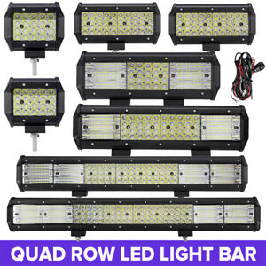 Quad Row 4 7 9 12 20 23 Inch Led Light Bar Spot Flood Offroad Jeep Atv 18w