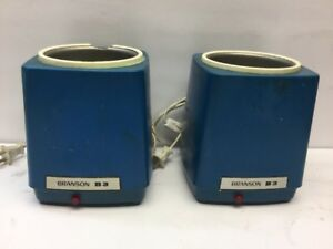 Pair Of Branson B 3 Ultrasonic Cleaner 117v 50 60hz 40 Watts