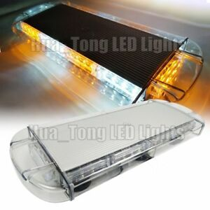 21 65 40w Emergency Beacon Warn Security Strobe Led Mini Light Bar Amber White