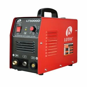 Pilot Arc Plasma Cutter Lotos Lt5000d Dual Voltage 50 Amp 110v 220v Compact New