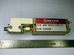 Miteq Amf 8012 1257 8 0 12 0 Ghz Rf Microwave Amplifier With Input Isolator