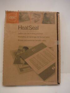 Gbc Heat Seal 100pk 9 X 11 5 3mil Laminating Pouches 3200715