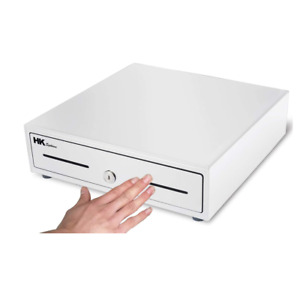 13 Heavy Duty Compact White Manual Push open Cash Drawer With 4bill 5coin Till