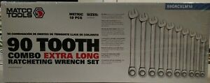 Brand New 10 Piece Extra Long Metric Ratcheting Combo Wrench Set S9grcxlm10