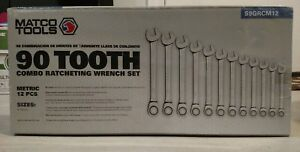 brand New 12pc Metric Combo Ratcheting Wrench Set S9grcm12