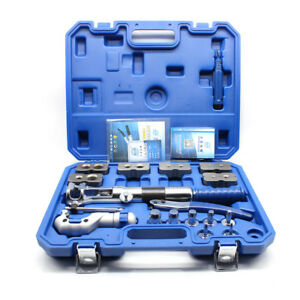 Hydraulic Pipe Expander Set Pipe Fuel Line Flaring Tools Kit Steel Case