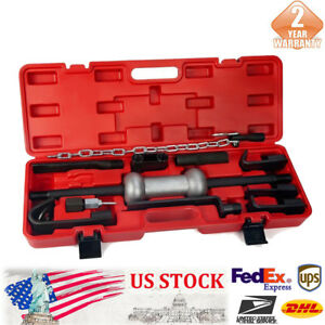 13pc Dent Puller W 10lb Slide Hammer Auto Body Truck Repair Tool Kit Heavy Duty