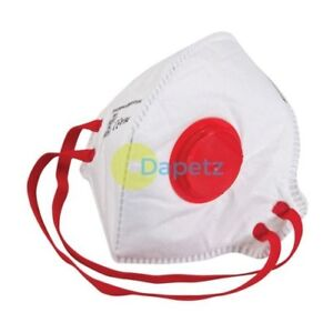 Dust Mask Respirator Fold Flat Valved Ffp3 Protective Safety Filter 1 50 Packs