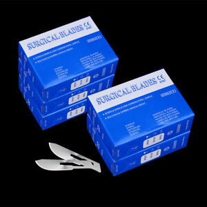 Surgical Scalpel Blades Dental Medical All Instruments 22 100pcs box Carbon 5x
