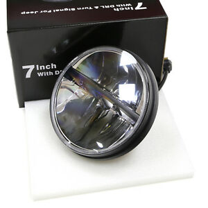 1x 7inch Led Headlight For Jeep Wrangler Jk Hummer H4 High low Beam 40w Truck