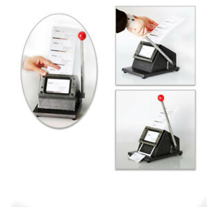 Manual Pvc Business Id Name Credit Card Cutter Machine 1mm Metal Base 86 X 54mm